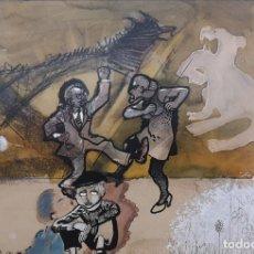 Arte: CARPO, ALBERTO (LEÓN 1936 - A CORUÑA 2015). DIVORCIO. MIXTA SOBRE CARTULINA.. Lote 225247968
