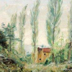 Arte: VICENÇ SOLÉ JORBA (OLOT, 1904 - EL BRULL, 1949) OLEO SOBRE CARTON. PAISAJE. Lote 225296005