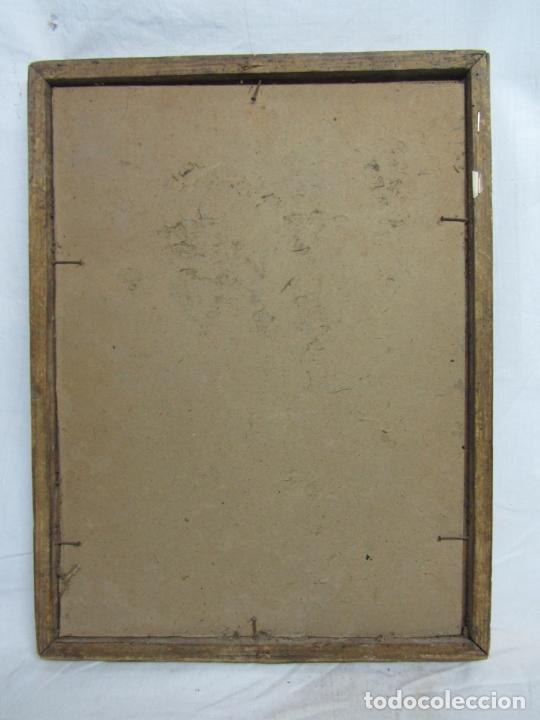 Arte: Monaguillo - fragmento de un cuadro en lienzo al óleo del siglo XVIII - Foto 4 - 225342125
