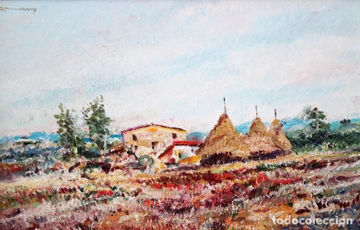 RAMÓN DE CAPMANY Y MONTANER (1899 - 1992) OLEO SOBRE TELA DEL AÑO 1977. PAISAJE (Arte - Pintura - Pintura al Óleo Contemporánea )
