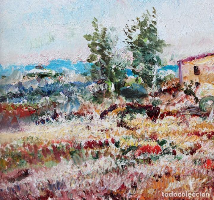 Arte: RAMÓN DE CAPMANY Y MONTANER (1899 - 1992) OLEO SOBRE TELA DEL AÑO 1977. PAISAJE - Foto 4 - 225387390