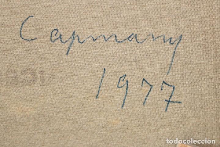 Arte: RAMÓN DE CAPMANY Y MONTANER (1899 - 1992) OLEO SOBRE TELA DEL AÑO 1977. PAISAJE - Foto 8 - 225387390