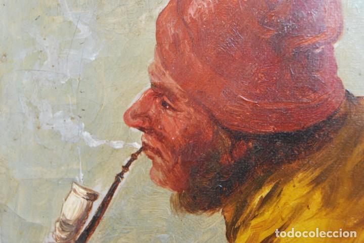 Arte: MAGNÍFICO ÓLEO HOLANDÉS - RETRATO DE HOMBRE - MARINERO FUMANDO EN PIPA - PESCADOR - SIGLO XVIII - Foto 17 - 225501405