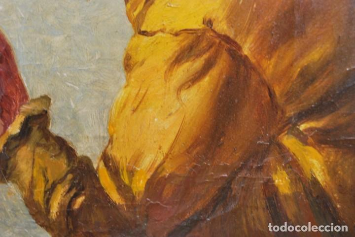 Arte: MAGNÍFICO ÓLEO HOLANDÉS - RETRATO DE HOMBRE - MARINERO FUMANDO EN PIPA - PESCADOR - SIGLO XVIII - Foto 19 - 225501405