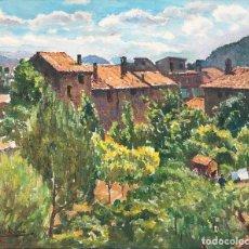 Arte: ALBERT RAFOLS CULLERÉS (BARCELONA 1892-1986) - PAISAJE CATALÁN, ESPAÑA - ÓLEO SOBRE LIENZO. Lote 225624990