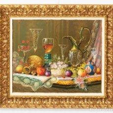 Arte: ROBERTO MICHEL - BARCELONA 1.944 ÓLEO SOBRE LIENZO - NATURALEZA MUERTA GRAN FORMATO. Lote 225718190