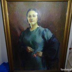 Arte: GRAN ÓLEO DE FRANCESC VIDAL I GOMA.RETRATO DE DAMA.AÑOS 30.. Lote 225904145