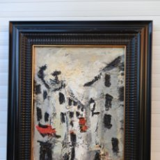 Arte: ÓLEO SOBRE TABLA JOSÉ VILLANUEVA BERRUEZO LLEIDA 1941-2018. EXPRESIONISTA ABSTRACTO. ENMARCADO.. Lote 247669040
