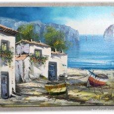 Arte: PINTURA ORIGINAL AL OLEO SOBRE LIENZO 46X55. Lote 226218735