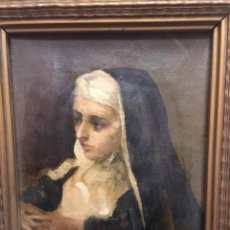 Arte: FRANCISCO DOMINGO MARQUES (1842-1920). RETRATO DE SANTA CLARA DE ASSIS. ÓLEO/LIENZO. FIRMADO DOMINGO. Lote 226225900