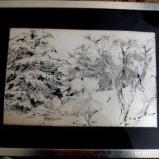 Arte: FRANCISCO SEBASTIAN (VALENCIA, 1920-2013). JARDÍN. TINTA Y AGUADA/PAPEL 33X56 CMS.. Lote 226231585