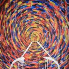 Arte: ¡¡ ABSTRACTO, ESPIRAL DE COLORES. FIRMADO. !!. Lote 226238683