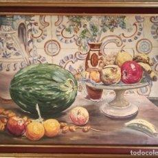 Arte: CUADRO, ÓLEO, BODEGÓN, F. CEBRIÁN (ESC. ESPAÑOLA) 65X50. Lote 226355570