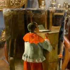 Arte: MONAGUILLO OLEO SOBRE LIENZO S.XIX SIN FIRMA. Lote 226463510
