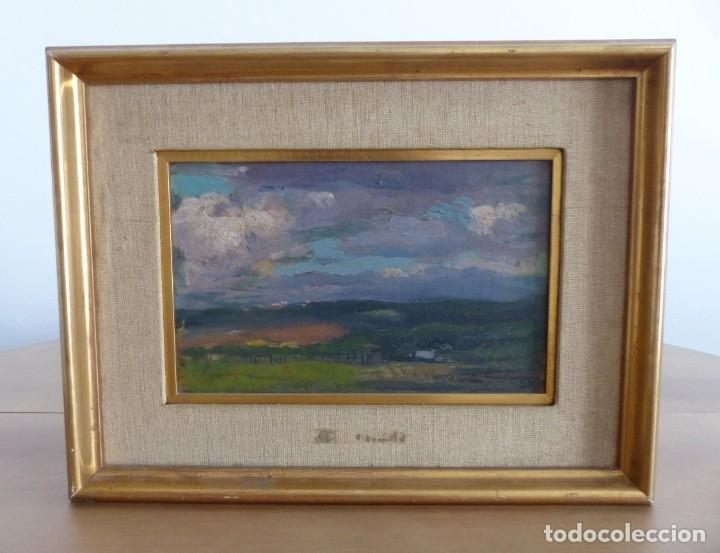 ENRIC GALWEY GARCÍA (1864-1943) PAISAJE - OLEO CARTÓN. (Arte - Pintura - Pintura al Óleo Contemporánea )