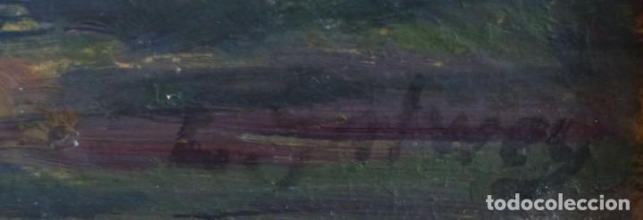 Arte: ENRIC GALWEY GARCÍA (1864-1943) PAISAJE - OLEO CARTÓN. - Foto 3 - 226584630