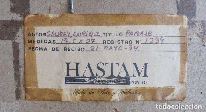 Arte: ENRIC GALWEY GARCÍA (1864-1943) PAISAJE - OLEO CARTÓN. - Foto 6 - 226584630