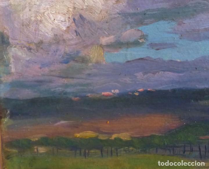 Arte: ENRIC GALWEY GARCÍA (1864-1943) PAISAJE - OLEO CARTÓN. - Foto 4 - 226584630