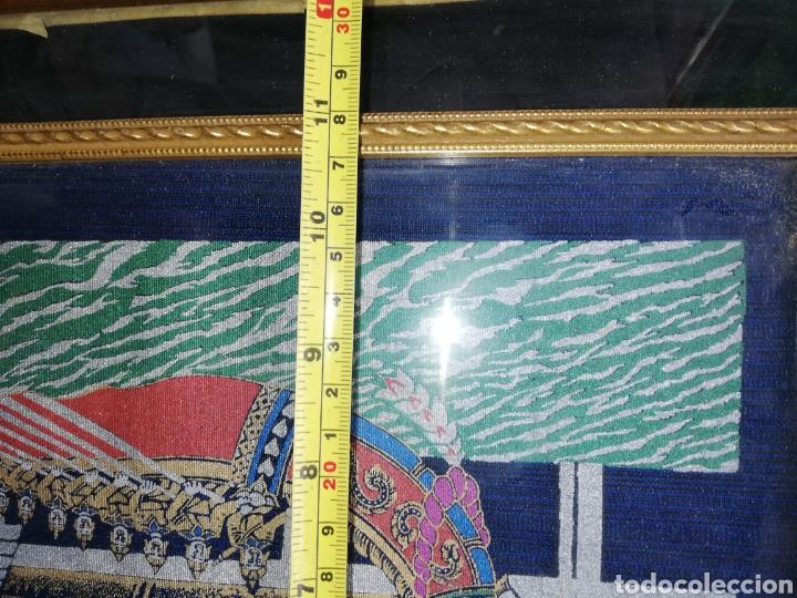Arte: Cuadro pintado en oleo.. Enmarcado con doble marcó y cristal.. - Foto 6 - 226685515