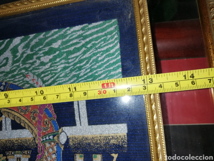 Arte: Cuadro pintado en oleo.. Enmarcado con doble marcó y cristal.. - Foto 7 - 226685515