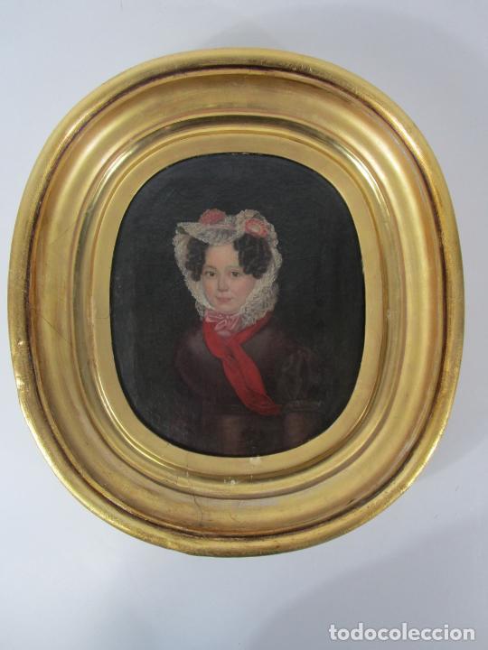 ANTONIO MARÍA ESQUIVEL (SEVILLA 1806- MADRID 1857) - RETRATO AL ÓLEO - CONDESA DE VIADRINA (Arte - Pintura - Pintura al Óleo Moderna siglo XIX)