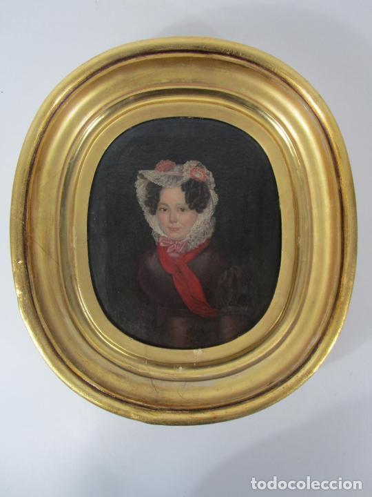 Arte: Antonio María Esquivel (Sevilla 1806- Madrid 1857) - Retrato al Óleo - Condesa de Viadrina - Foto 4 - 226769130