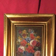 Arte: PINTURA JARRÓN FLORES AÑOS 70. Lote 226795980