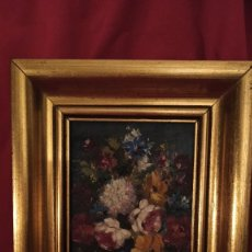 Arte: PRECIOSA PINTURA AL ÓLEO JARRÓN CON FLORES AÑOS 70. Lote 226796260
