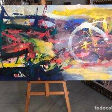 Arte: CUADRO ABSTRACTO POSIBLEMENTE DE ARJONA ALCOY 148X80. Lote 226806925
