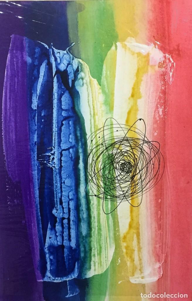 Arte: Física (1968). Ciro Oduber (1921-2002). Medidas 42x32 cms.Técnica Mixta - Foto 3 - 226883240
