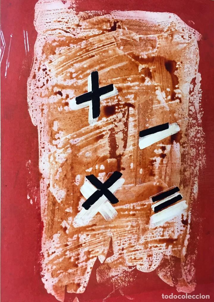 MATEMÁTICAS. CIRO ODUBER (1921-2002). MEDIDAS 42X32 CMS.TÉCNICA MIXTA (Arte - Pintura - Pintura al Óleo Contemporánea )