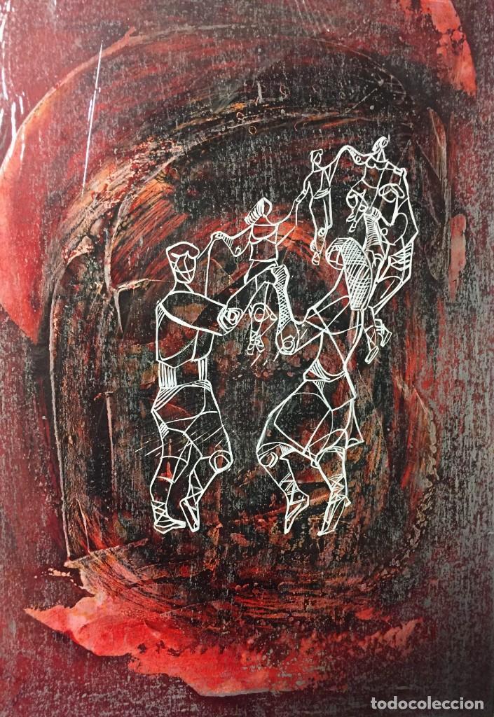 LA SARDANA. CIRO ODUBER (1921-2002). MEDIDAS 42X32 CMS.TÉCNICA MIXTA (Arte - Pintura - Pintura al Óleo Contemporánea )