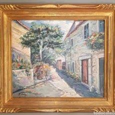 Arte: JAUME CASES MARTÍNEZ (BARCELONA, 1942) - CALLE DE PUEBLO.OLEO/TELA.FIRMADO.. Lote 134393177