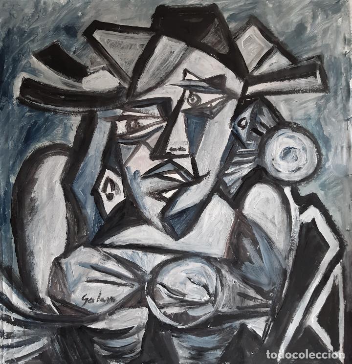 Arte: personaje,pintura sobre tela - Foto 2 - 226965965