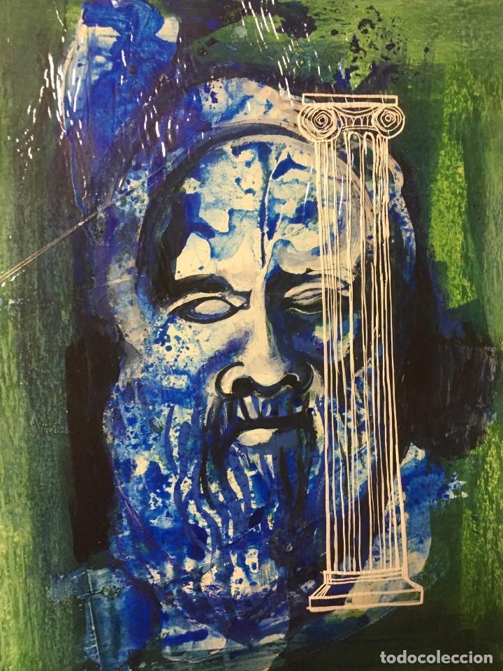 Arte: Técnica mixta original de Ciro Oduber, óleo sobre cartón y negativo,42x32 - Foto 2 - 227048265