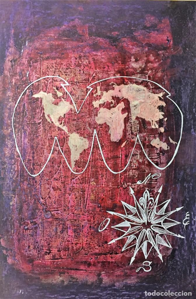 GEOGRAFIA.TÉCNICA MIXTA ORIGINAL DE CIRO ODUBER, ÓLEO SOBRE CARTÓN Y NEGATIVO,42X32,1970 (Arte - Pintura - Pintura al Óleo Contemporánea )