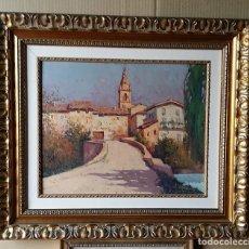 Arte: MIGUEL EGUILUZ AMOREBIETA VIZCAYA 1934 PAISAJE BURGOS PUEBLA ARGANZON. Lote 227087260