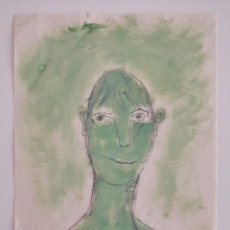 Arte: INTERESANTE RETRATO FIRMADO, OLEO SOBRE PAPEL, POSIBLEMENTE AÑOS 40-50. Lote 227479935