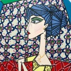 """Arte: """"AFTER LA JACQUELINE CON FLORES DE PICASSO"""" OBRA DE LA PINTORA CANARIA RUTH CALDERÍN (LPGC 1977). Lote 227555027"""