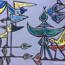 """Arte: """"CON LA MIRADA DE DOMÍNGUEZ"""" OBRA DE LA PINTORA CANARIA RUTH CALDERÍN (LPGC 1977). Lote 227557470"""