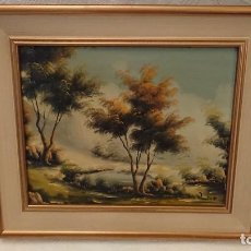 Arte: OLEO SOBRE TABLA DEL PINTOR CAMPILLO. Lote 227642435