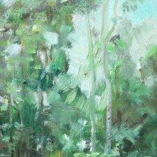 Arte: JOAQUIM MARSILLACH CODONY (OLOT, GERONA, 1905- ?) OLEO SOBRE TABLEX. PAISAJE. 33 X 15 CM.. Lote 227674680