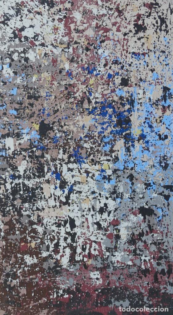 PINTURA ABSTRACTA DE JOSE SANZ SALA REALIZADA SOBRE TABLERO (Arte - Pintura - Pintura al Óleo Contemporánea )