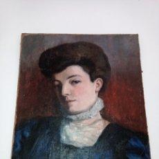 Art: RETRATO 1908 DAMA. Lote 227849565