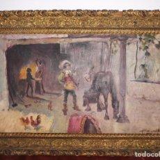Arte: BARTOLOME MONGRELL MUÑOZ 1882-1938 OLEO SOBRE LIENZO,FIRMADO. Lote 227855941