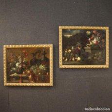 Arte: PAREJA ANTIGUA DE BODEGONES ITALIANOS DEL SIGLO XVII. Lote 227960255