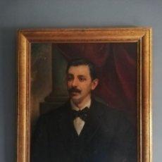 Arte: CUADRO OLEO RETRATO CABALLERO FIRMA VICTOR MOYA (1890-1972). Lote 227972275