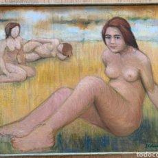 Arte: DESNUDO FEMENINO 1960. Lote 227975585