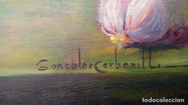 Arte: ÓLEO S/LIENZO DE ROSENDO GONZÁLEZ CARBONELL -BODEGÓN-, MUY BIEN ENMARCADO. DIMENSIONES.- 55X47 CMS. - Foto 10 - 227984845