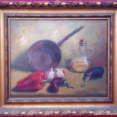 Arte: ÓLEO S/LIENZO DE ROSENDO GONZÁLEZ CARBONELL -BODEGÓN-, MUY BIEN ENMARCADO. DIMENSIONES.- 55X47 CMS.. Lote 227987850